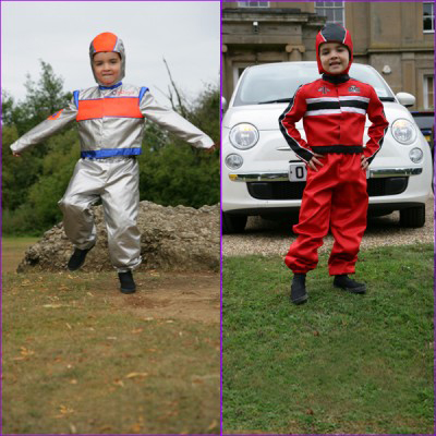 Boys Astronaut / Racing Driver Reversible 2 in 1 Fancy Dress Costume