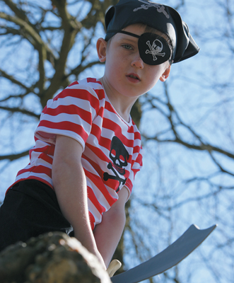 Boys Buccaneer Pirate Fancy Dress Costume