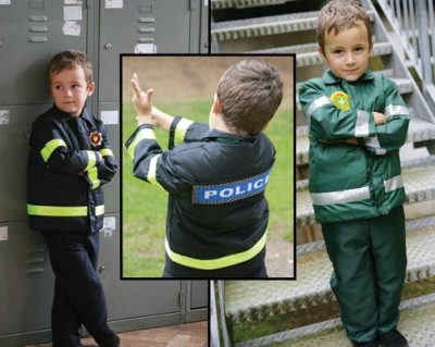 Boys Emergency Services Reversible 3 in 1 Fancy Dress Costume