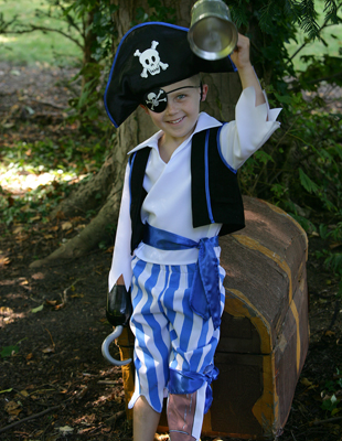 Boys Peg Leg Pirate Fancy Dress Costume