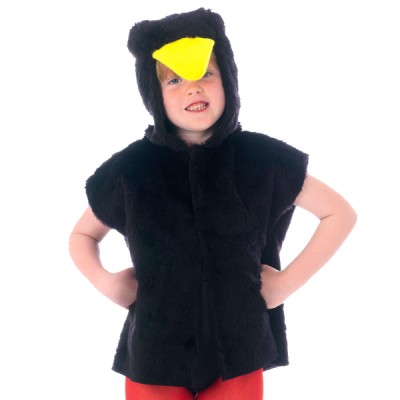 Children's Boys and Girls Blackbird Tabard Costume