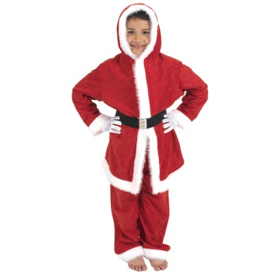 Children's Boys and Girls Complete Father Christmas Santa Claus Kris Kringle Fancy Dress Up Costume