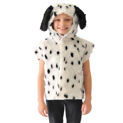 Children's Boys and Girls Dalmatian Dog Fur Tabard Costume
