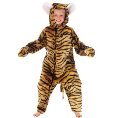 Children's Boys and Girls Wild Jungle Animal Tiger Fancy Dress Up Costume