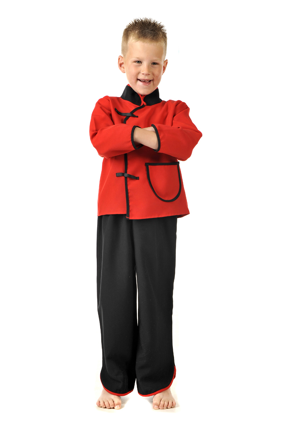 Children's Boys Chinese Man Boy Fancy Dress Up Costume