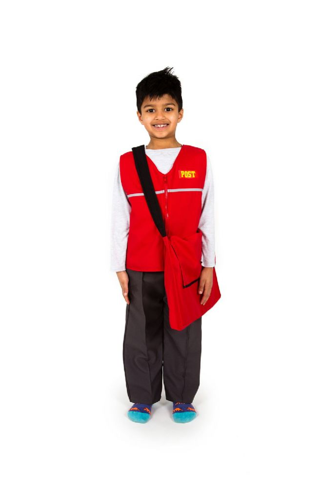 Children S Boys Girls Postman Postal Worker Fancy Dress