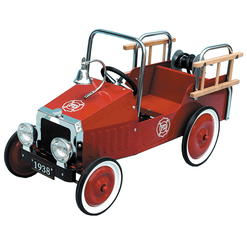 Children's Classic Fire Engine Pedal Car - Great Gizmos
