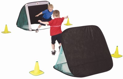 Children's Football Goal Set – 2X Junior Goals and 4 Cones