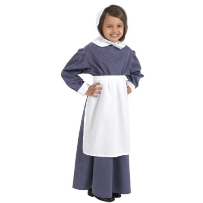 Children's Girls Florence Nightingale Fancy Dress Up Costume