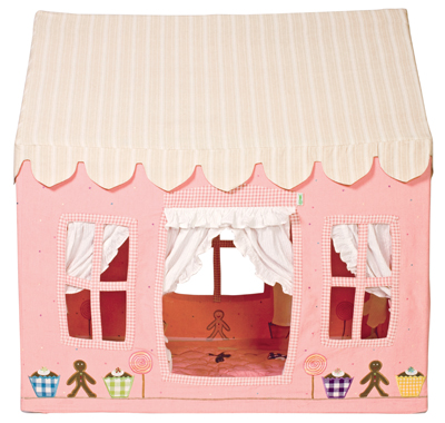 Children's Girls Small Win Green Gingerbread Cottage Playhouse