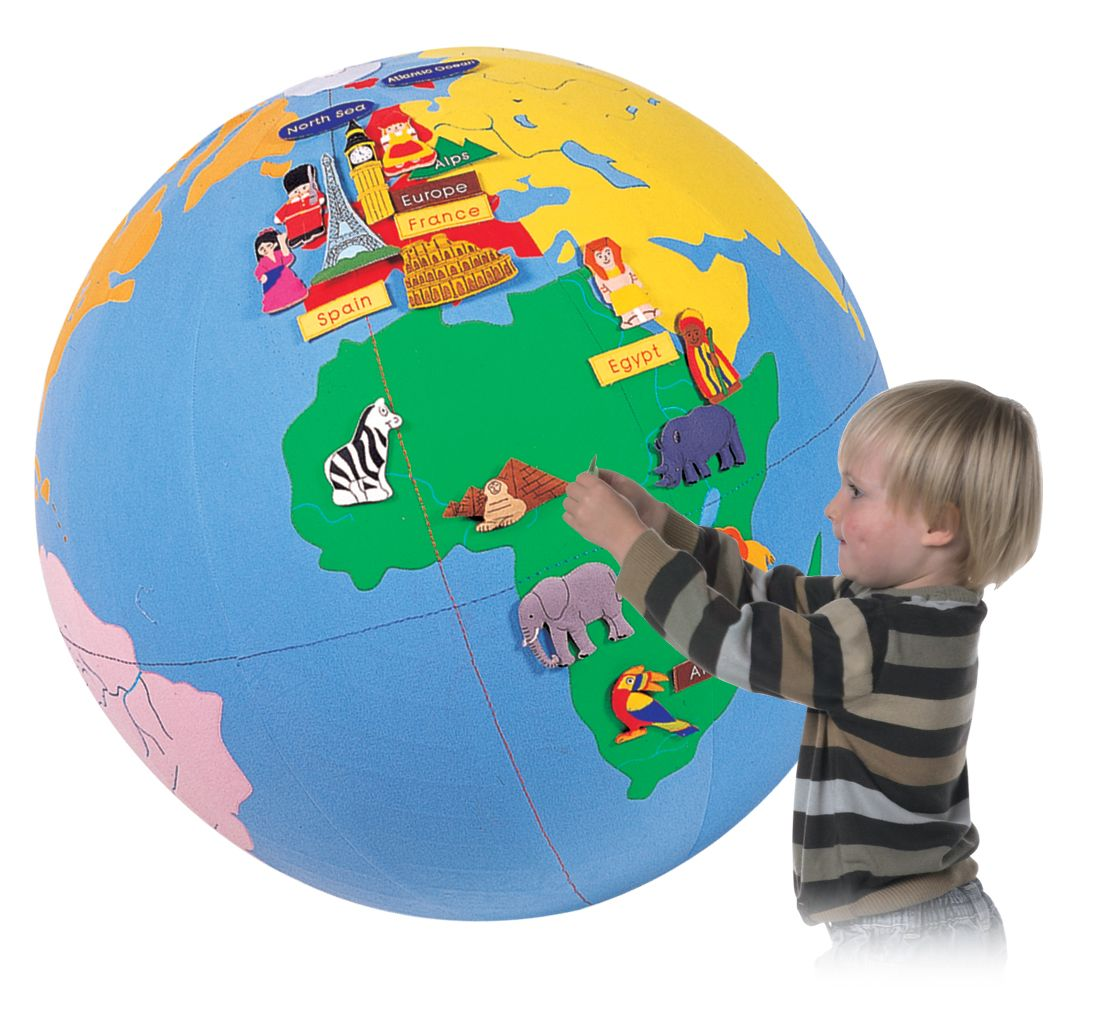 Inflatable Globe World Map.  Children s Inflatable Interactive Giant World Globe with Free Pump