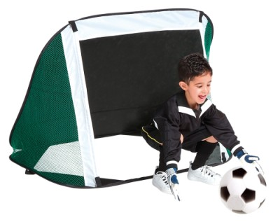 Children's Junior Football Goal with Kick Back Net