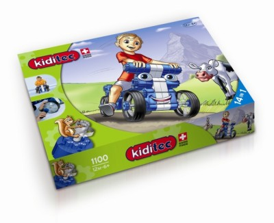 Children' s Kiditec Multicar Blue - 79 Pieces