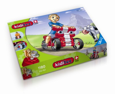 Children's Kiditec Multicar Red - 79 Pieces