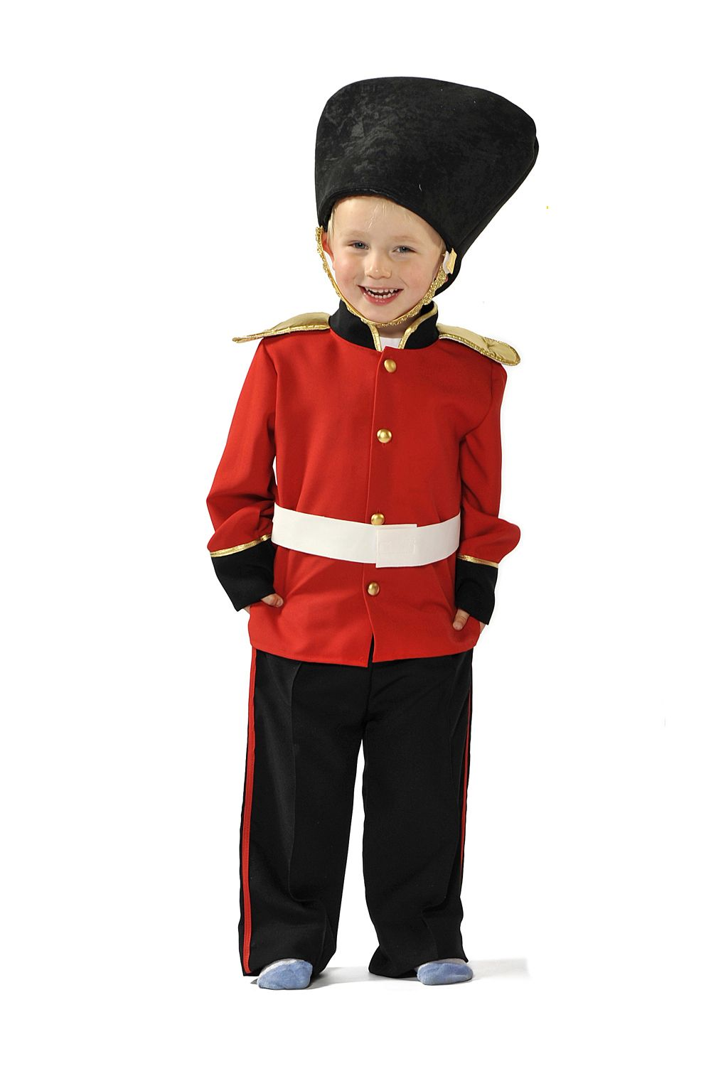 Childrens Kids Boys Royal Palace Guard Guardsman Fancy Dress Up