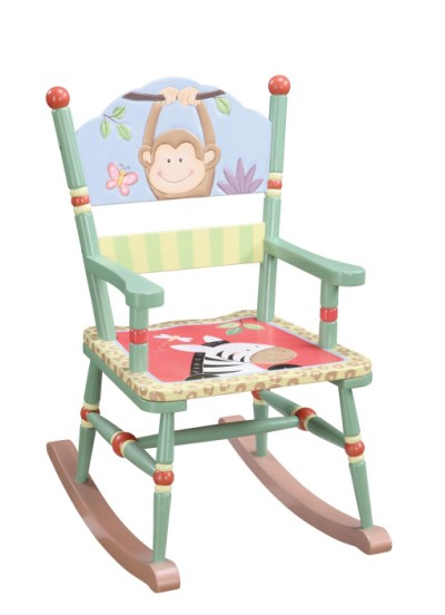 Children s teamson sunny safari rocking chair - Automatic rocking chair for adults ...