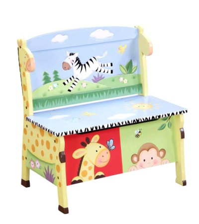 Children's Teamson Sunny Safari Storage Bench