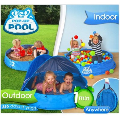 Children s uv 50 upf pop up garden beach paddling pool for Pop up garten pool