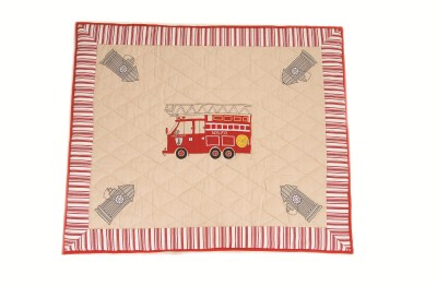 Children's Win Green Large Fire Station Floor Quilt