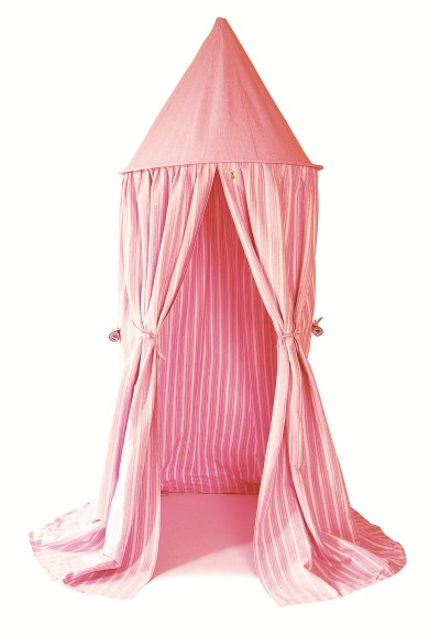 Children's Win Green Rose Multi-Stripe Gingham Hanging Play Tent
