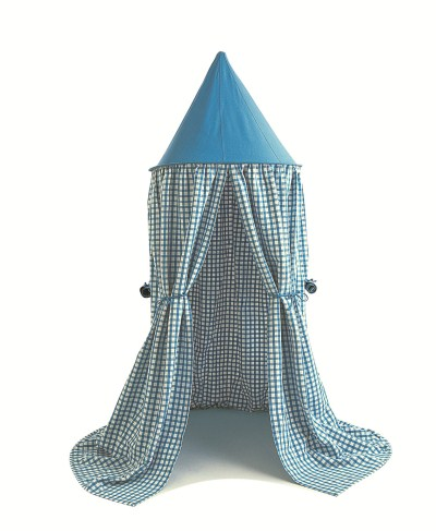 Children's Win Green Sky Gingham Hanging Play Tent