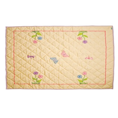 Children's Win Green Small Butterfly Floor Quilt