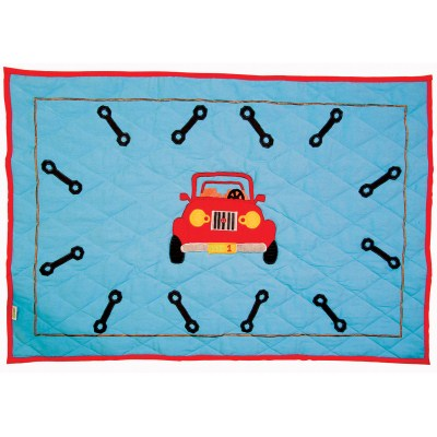 Children's Win Green Small Garage Floor Quilt