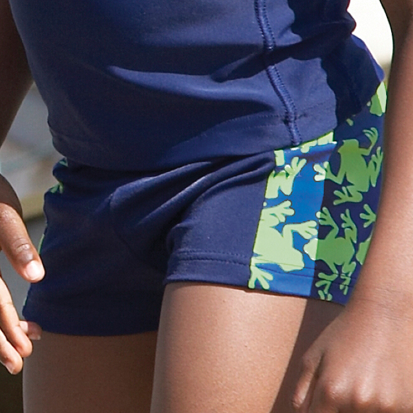 Mitty James Children's Boys Beachwear Swim Swimming Shorts Trunks - Navy / Green