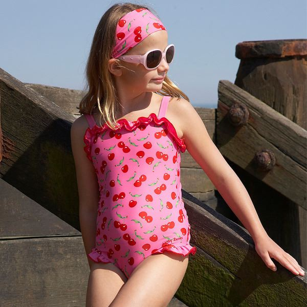 Mitty James Children's Girls Swimwear Swimsuit Swimming Costume – Cherry Strappy