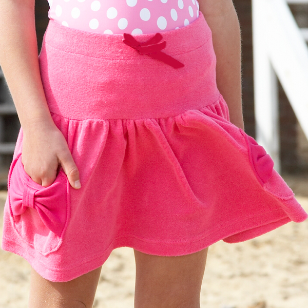 Mitty James Children's Girls Towelling Pink Skirt