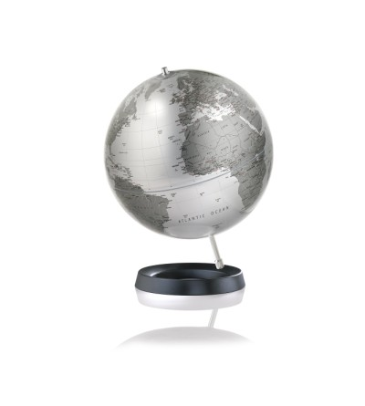 Modern Expression Silver World Globe