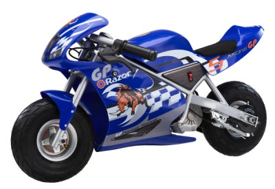 Razor Pocket Rocket Miniature Electric Motorcycle - Blue