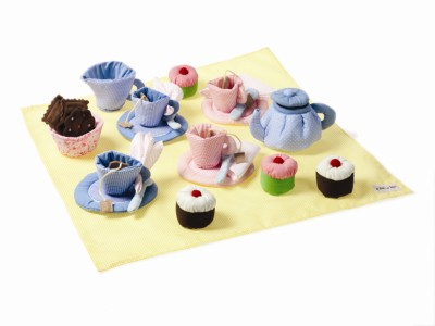 Soft Tea Set with Cupcakes - Oskar & Ellen