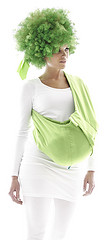 Wallaboo Baby Cotton Sling - Lily Green