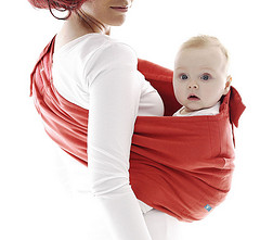 Wallaboo Baby Cotton Sling - Poppy Red