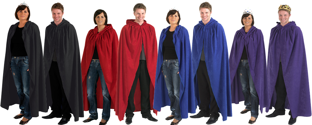 Adult Mens And Ladies Cloak Robe Cape With Hood Halloween