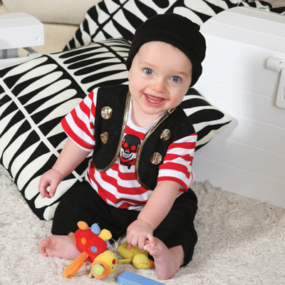 Baby Buccaneer Pirate Fancy Dress Costume