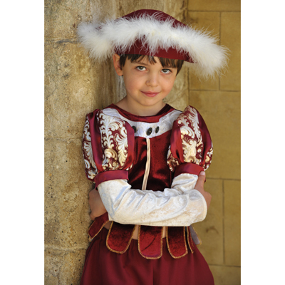 Boys Children's Tudor Boy Prince Charming Fancy Dress Costume