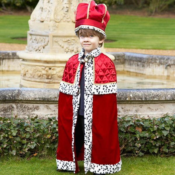 Boys King With Crown Fancy Dress Costume