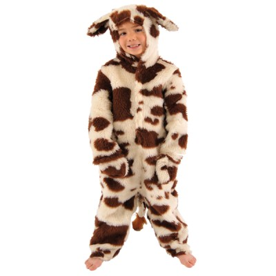 Children's Boys and Girls Fur Animal Cow Nativity Fancy Dress Up Costume