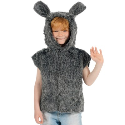 Children's Boys and Girls Fur Nativity Donkey Tabard Costume