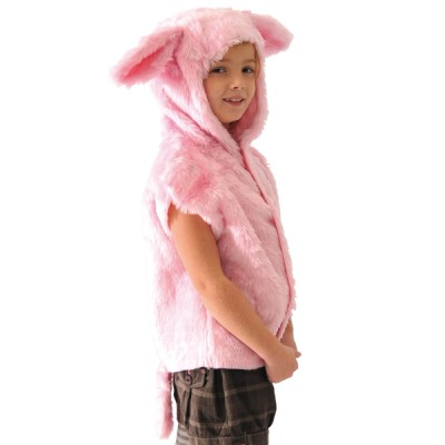 Children's Boys and Girls Fur Pig Tabard Costume