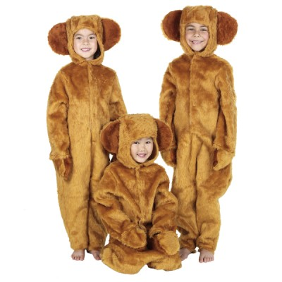 Children's Boys and Girls Fur Teddy Bear Fancy Dress Up Costume