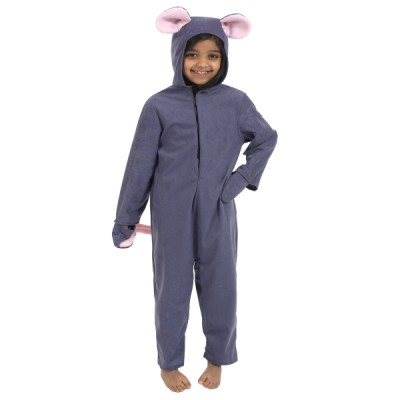 Children's Boys and Girls Mouse with Squeaker Fancy Dress Up Costume