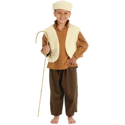 Children's Boys and Girls Shepherd Boy Nativity Tabard Costume