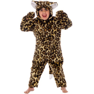 Children's Boys and Girls Wild Jungle Animal Leopard Fancy Dress Up Costume