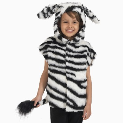 Children's Boys and Girls Zebra Tabard Costume
