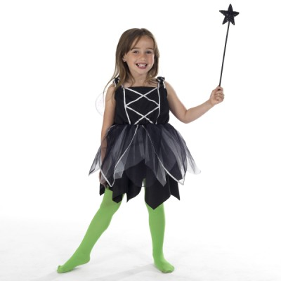Children's Girls Fairy Witch Fancy Dress Up Costume
