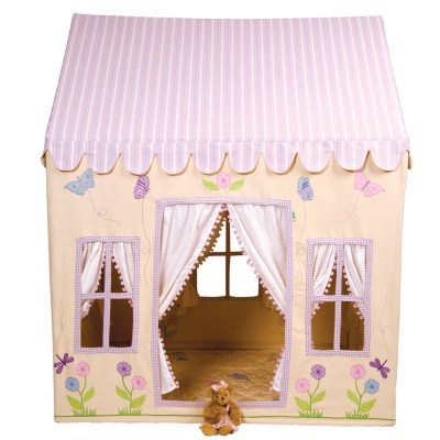 Children's Girls Large Win Green Butterfly Cottage Playhouse