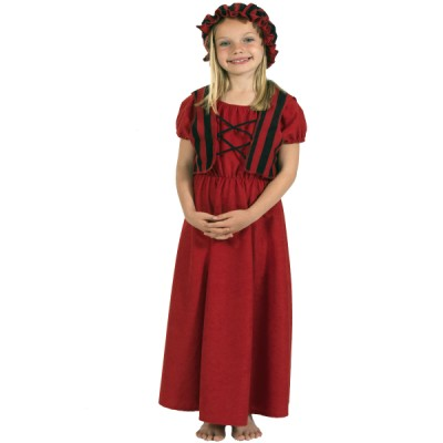 Children's Girls Molly the Peasant Girl Costume Fancy Dress Up Costume